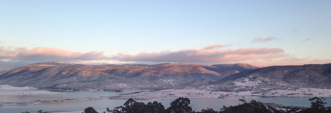 Lake Jindabyne looking towards Three Rivers Estate